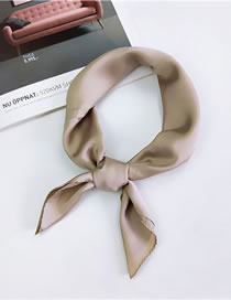 Fashion Khaki Pure Color Decorated Scarf