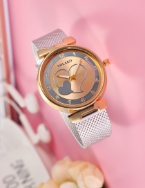 Fashion Silver Heart Pattern Decorated Women's Watch