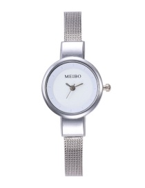 Fashion White Pure Color Decorated Watch
