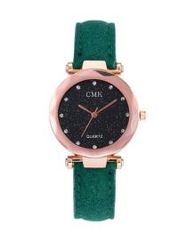 Fashion Green Diamond Decorated Watch