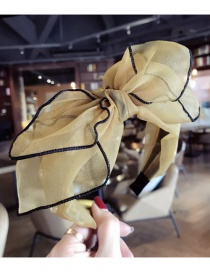 Fashion Yellow Bowknot Shape Decorated Hair Hoop