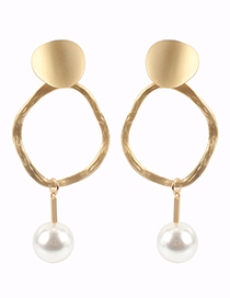 Fashion Gold Color Pearl Decorated Earrings