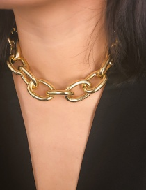 Fashion Gold 4.5 Cross Chain Frosted Necklace