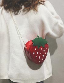 Fashion Red Cartoon Strawberry Small Bag