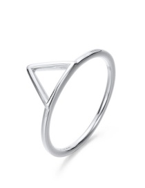 Fashion Silver 925 Silver Openwork Triangle Ring