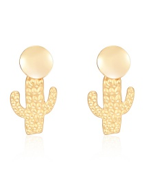 Fashion Gold Alloy Cactus Earrings