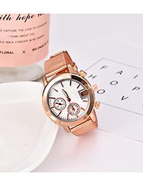 Fashion Gold Alloy Strap Electronic Element Watch