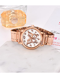 Fashion Gold Alloy Strap Adjustable Butterfly Electronic Watch