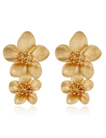 Fashion Gold Alloy Floral Multicolor Earrings