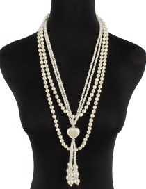 Fashion Milky Love Pearl Knotted Necklace
