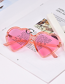Fashion Rose Red Resin Love Sunglasses
