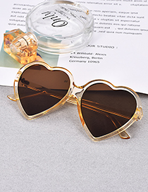 Fashion Champagne Resin Love Sunglasses