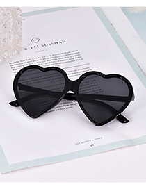 Fashion Black Resin Love Sunglasses