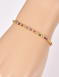 Fashion Gold Copper Inlay Zircon Bracelet