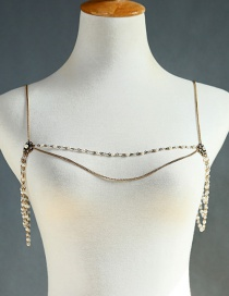 Fashion Gold Diamond-studded Shoulder Chain