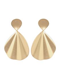 Fashion Gold Geometrically Shaped Wavy Earrings