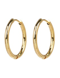 Fashion Gold Geometric Circle Stainless Steel Earrings