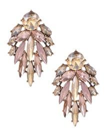 Fashion Pink Alloy Diamond Drop Earrings