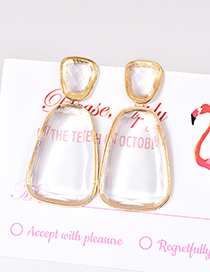 Fashion Transparent Alloy Resin Geometry Earrings