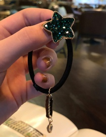 Fashion Dark Green Diamond Star Hairband