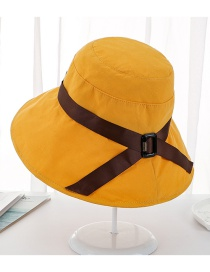 Fashion Mango Yellow Bow Folding Cup Cap