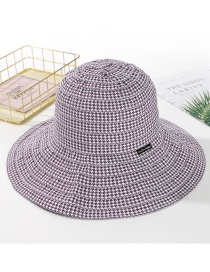 Fashion Purple Plaid Cloth Hat