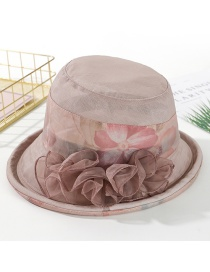 Fashion Khaki Printed Curling Small Basin Hat