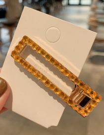Fashion Champagne Diamond Geometry Duckbill Clip