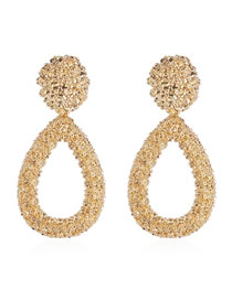 Fashion Gold Alloy Drop Earrings