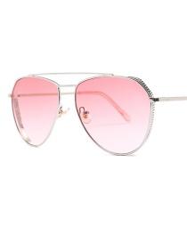 Fashion Gold Frame Powder C5 Double Beam Sunglasses
