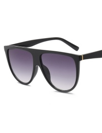 Fashion Black Frame Gray Piece C1 Siamese Sunglasses