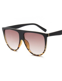 Fashion Black Leopard Tea Slice C7 Siamese Sunglasses