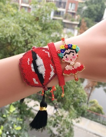 Fashion Red Lip Set Bracelet