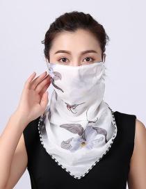Fashion White Chiffon Mask Scarf