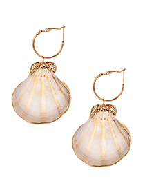 Fashion Gold Alloy Shell Earrings