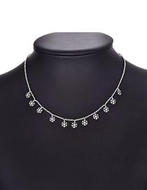 Fashion Snowflake Alloy Silver Necklace