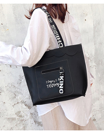 Fashion Black Soft Leather Shoulder Bag