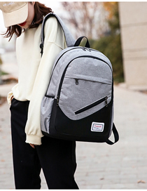 Fashion Gray Three-piece Backpack