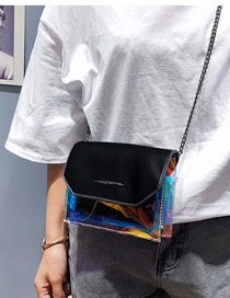 Fashion Black Transparent Jelly Crossbody Shoulder Bag