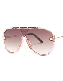 Fashion Light Tea Double Tea Sunglasses