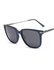 Fashion Blue Frame Full Gray Polarized Sunglasses