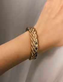 Fashion Gold Alloy Relief Weaving Bracelet