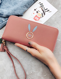 Fashion Bean Paste Fringed Rabbit Ears Purse