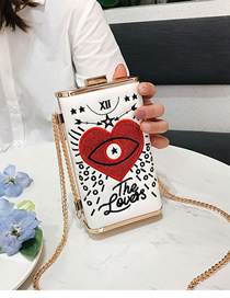 Fashion White Embroidered Shoulder Bag