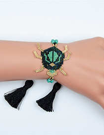 Fashion D Beetle Tassel Beads Woven Bracelet