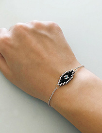 Fashion Silver Eye Totem Stainless Steel Gold Plated Braided Bracelet