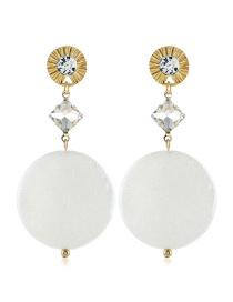 Fashion Gold Gemstone Long Earrings