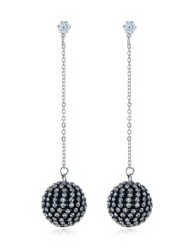 Fashion Silver Studded With Earrings