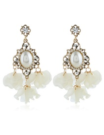 Fashion Gold Water Drop Stud Earrings
