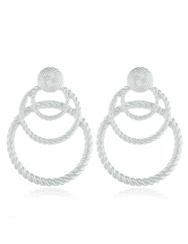 Fashion Silver Alloy Earrings